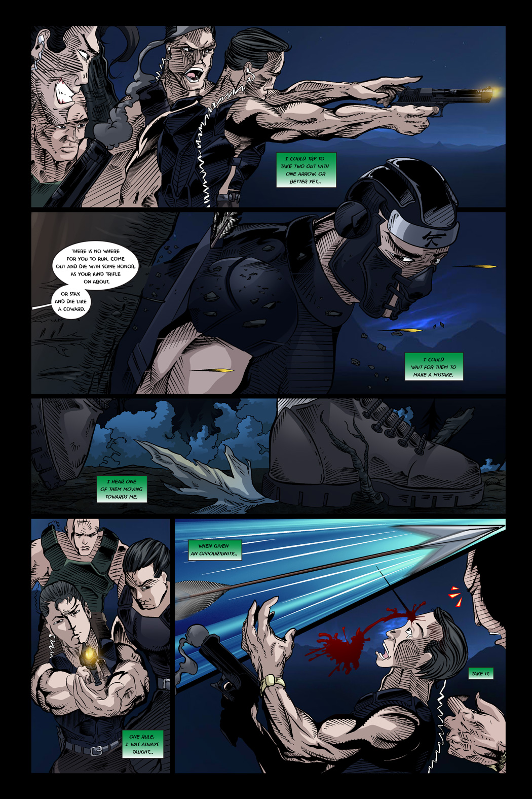 THREE ARROWS, FOUR TARGETS (Page 3)